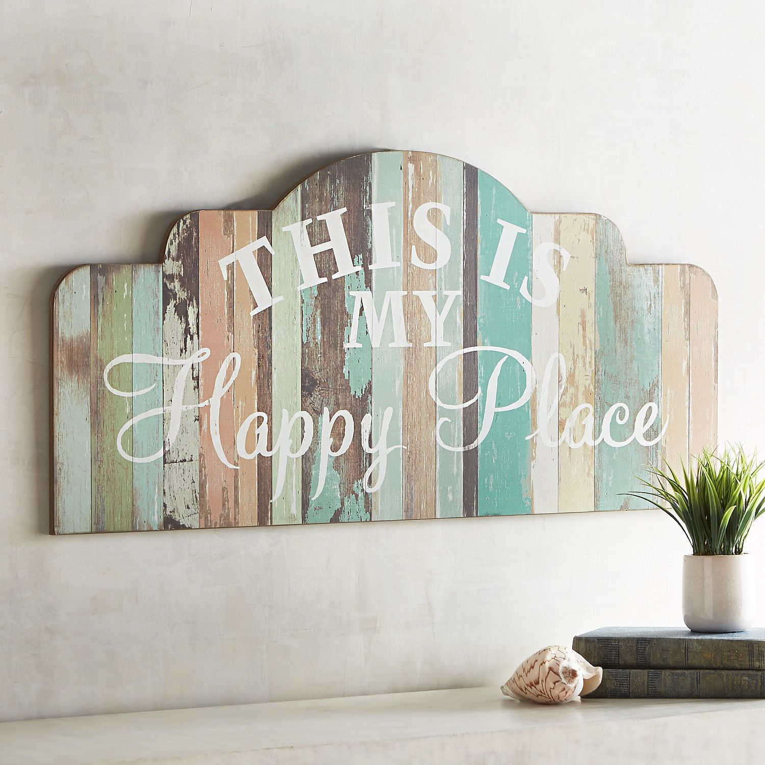 This Is My Happy Place Wall Decor Fall Wall Decor Shabby Chic Wall Decor Diy Wall Decor