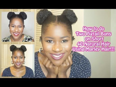 How To Do Two Pigtail Buns On Short 4c Natural Hair Eyesonmyprize Natural Hair Styles Pigtail Buns 4c Natural Hair