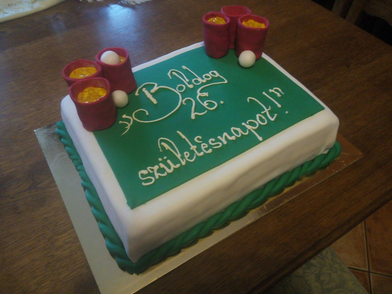 Beerpong cake for birthday