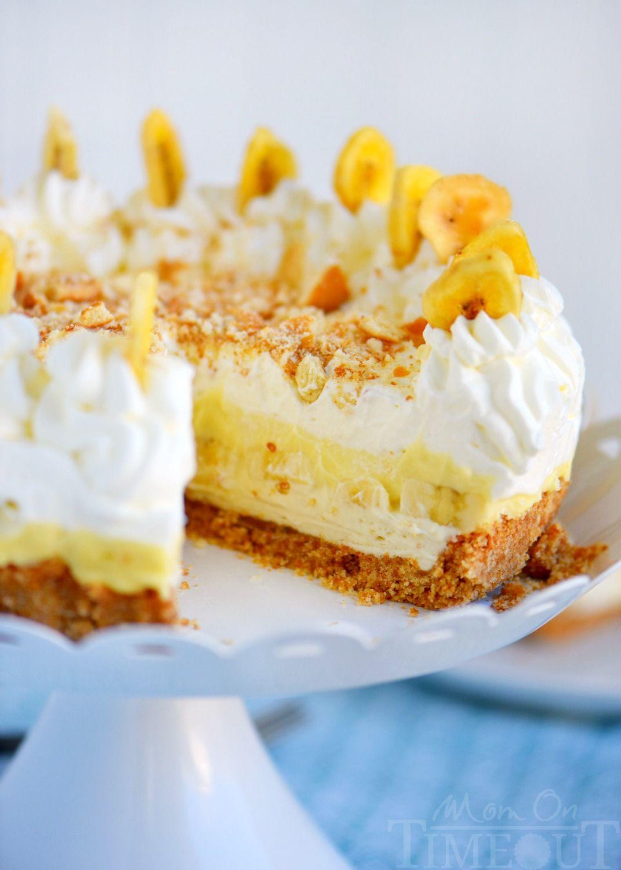 No Bake Banana Cream Pudding Cheesecake! A fabulous cookie