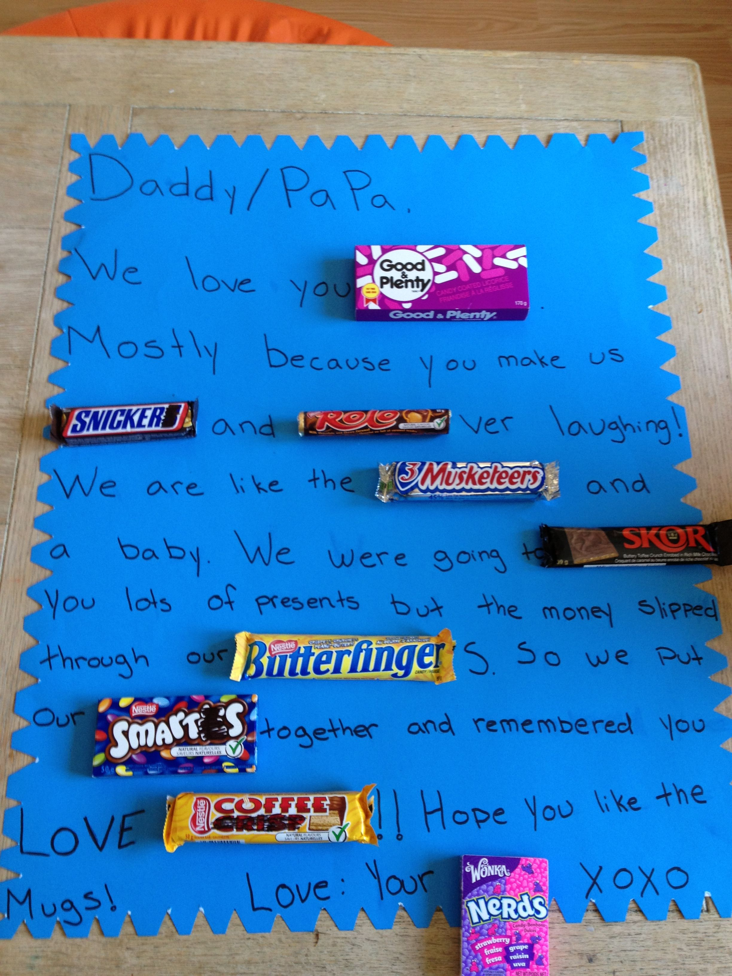 pastor appreciation poster with candy bars just bcause