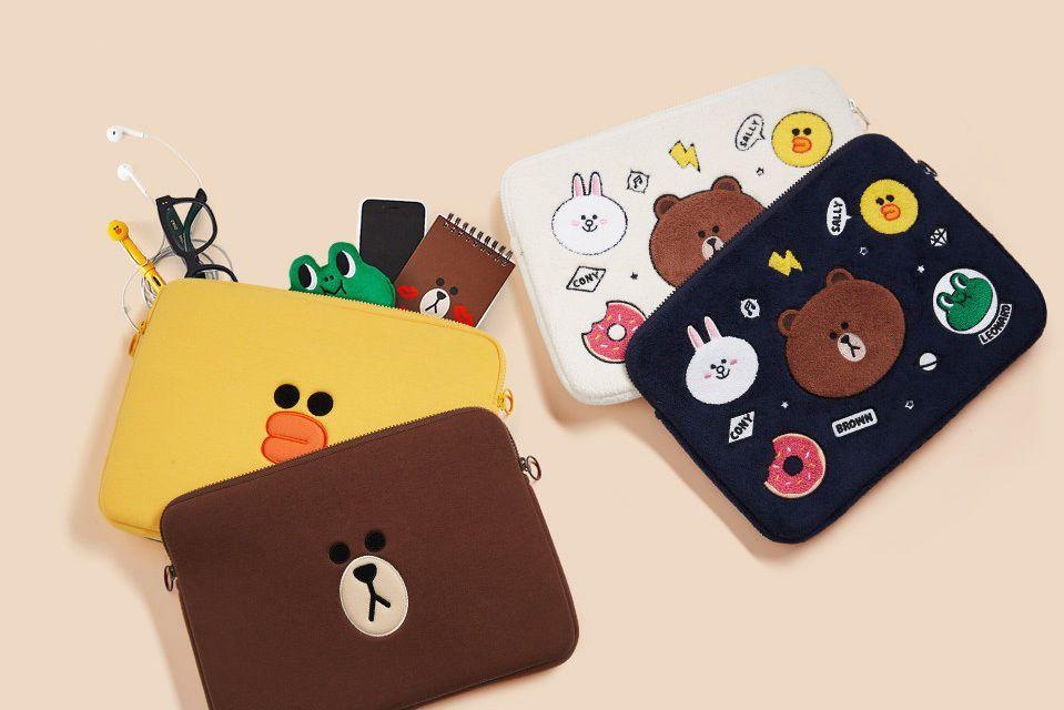 cheap for discount fd132 411e7 LINE FRIENDS Laptop Sleeve - Notebook Zipper Case Bag for MacBook ...