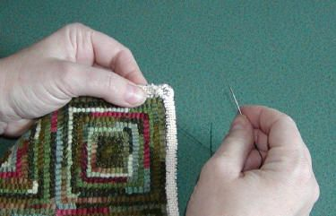 How To Finish A Hand Hooked Rug With Fold Forward Finishing Is One Part Of Hooking That Many S Do Not Enjoy These Instructions Will