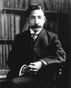 夏目漱石 natsume soseki 明治43年 1910 古い写真 肖像 歴史的な写真