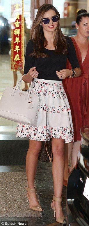 Miranda Kerr, early summer/late spring style