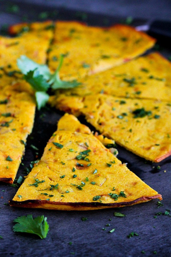 IndianSpicedChicIndian Spiced Chickpea Flatbread (Socca)…You will not be able to stop eating this! 100 calories and 3 Weight Watchers SmartPointskpeaFlatbreadSocca2 -