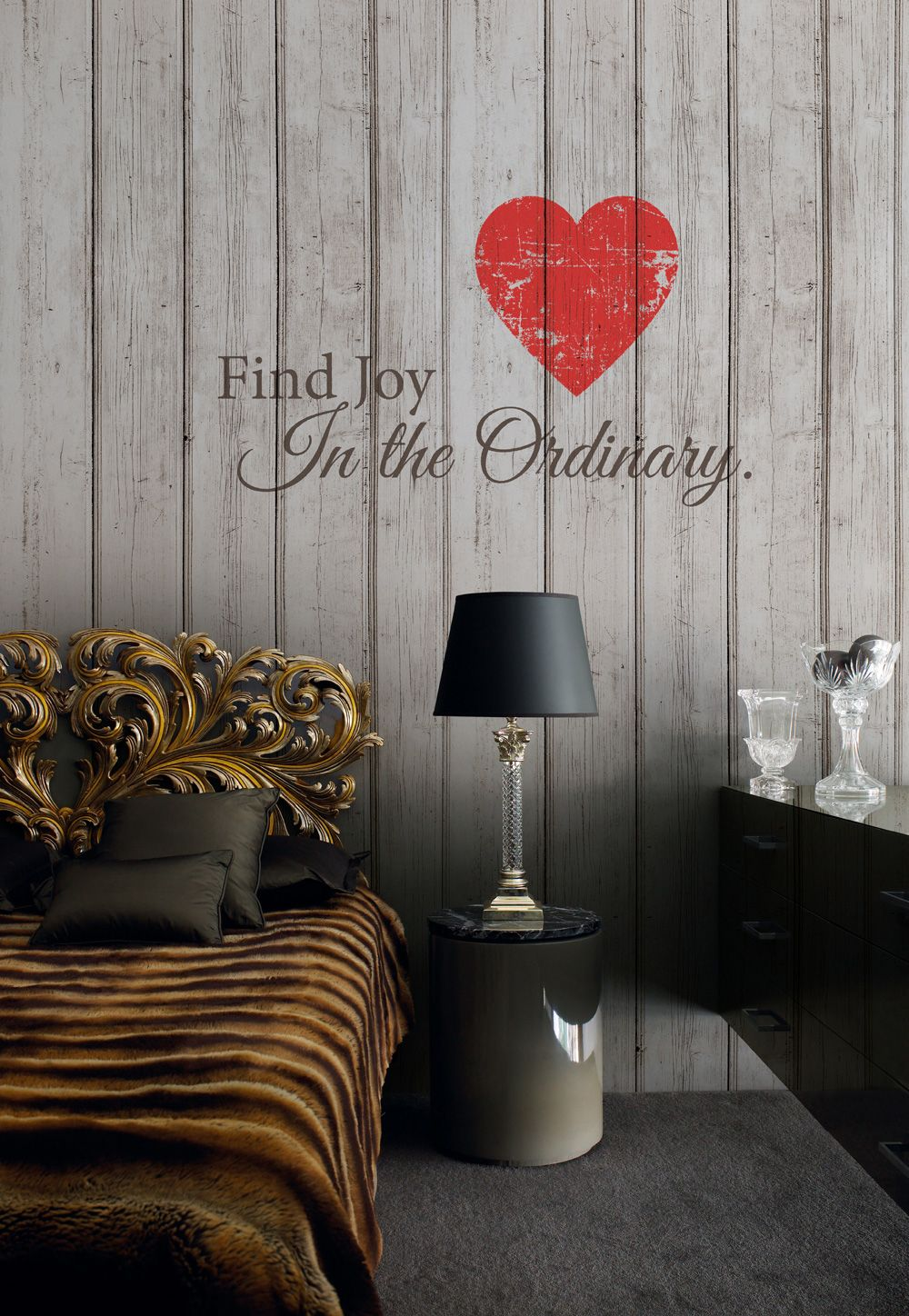 find joy in this wooden plan wallpaper mural for any contemporary