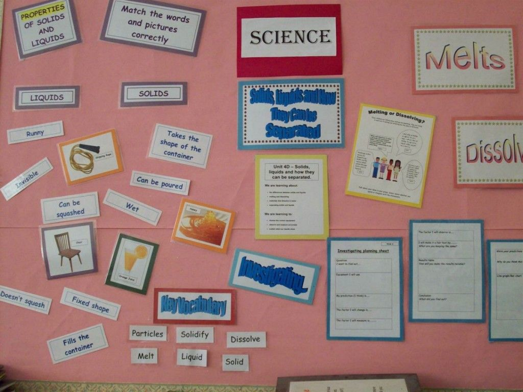 This Is A Bulletin Board Display Called Solids And