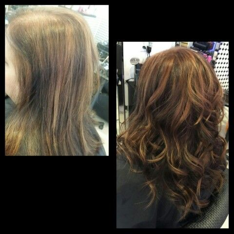 What a transformation extensions do with color! I customized three tones for this client. Before and after.