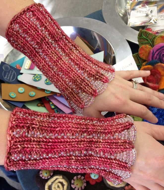 7 Knitting Patterns with Beads: From Cuffs to Purses | Knit art ...