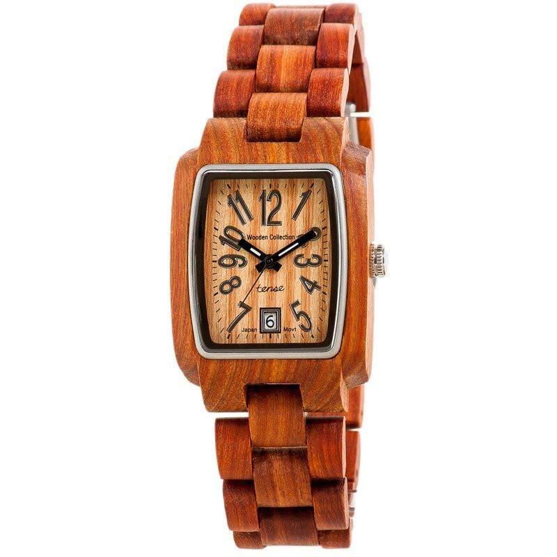 Tense Timber Watch | Sandalwood/Black