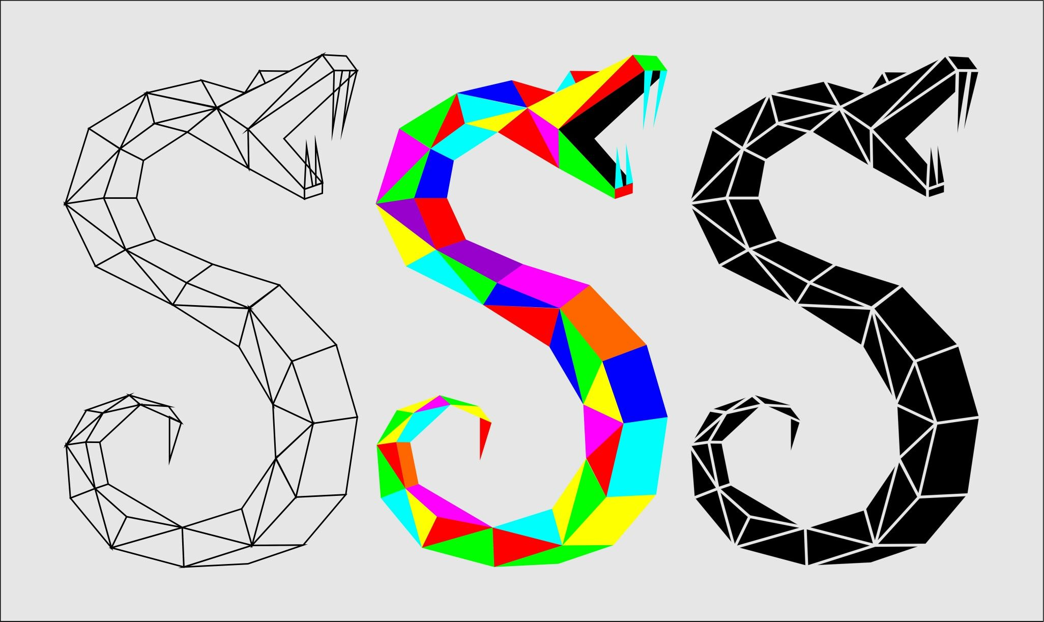 Geometric Snake Tattoo Design: Geometric Snake Designed By @fabrejunior In 2019