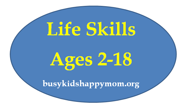 Life Skills -  by age, what kids should be able to do for themselves and around the home.