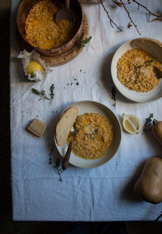 pumpkin and lemon thyme risotto