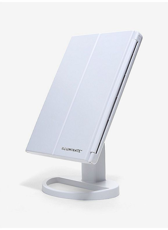 Hot Topic White Light Up Tri Fold Vanity Mirror Decor