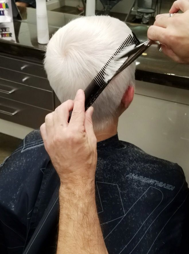 Beautiful Silver Hair Color Hair Cut By Troy Rothrock The