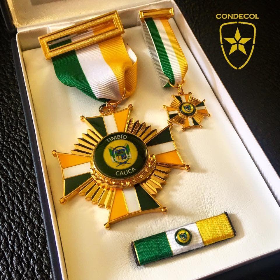Medalla Alcaldía de Timbio. Departamento del Cauca. Colombia.