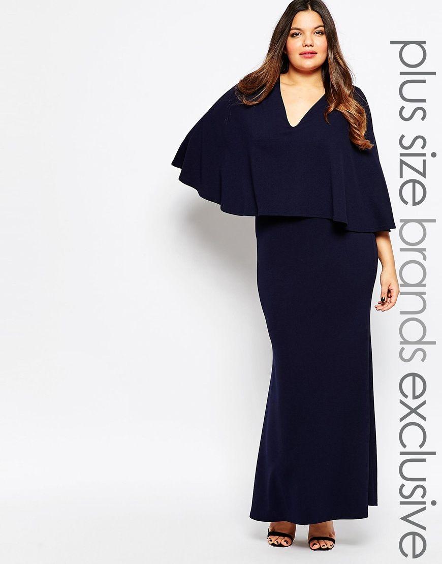 Image of club l plus maxi dress with cape clothes pinterest