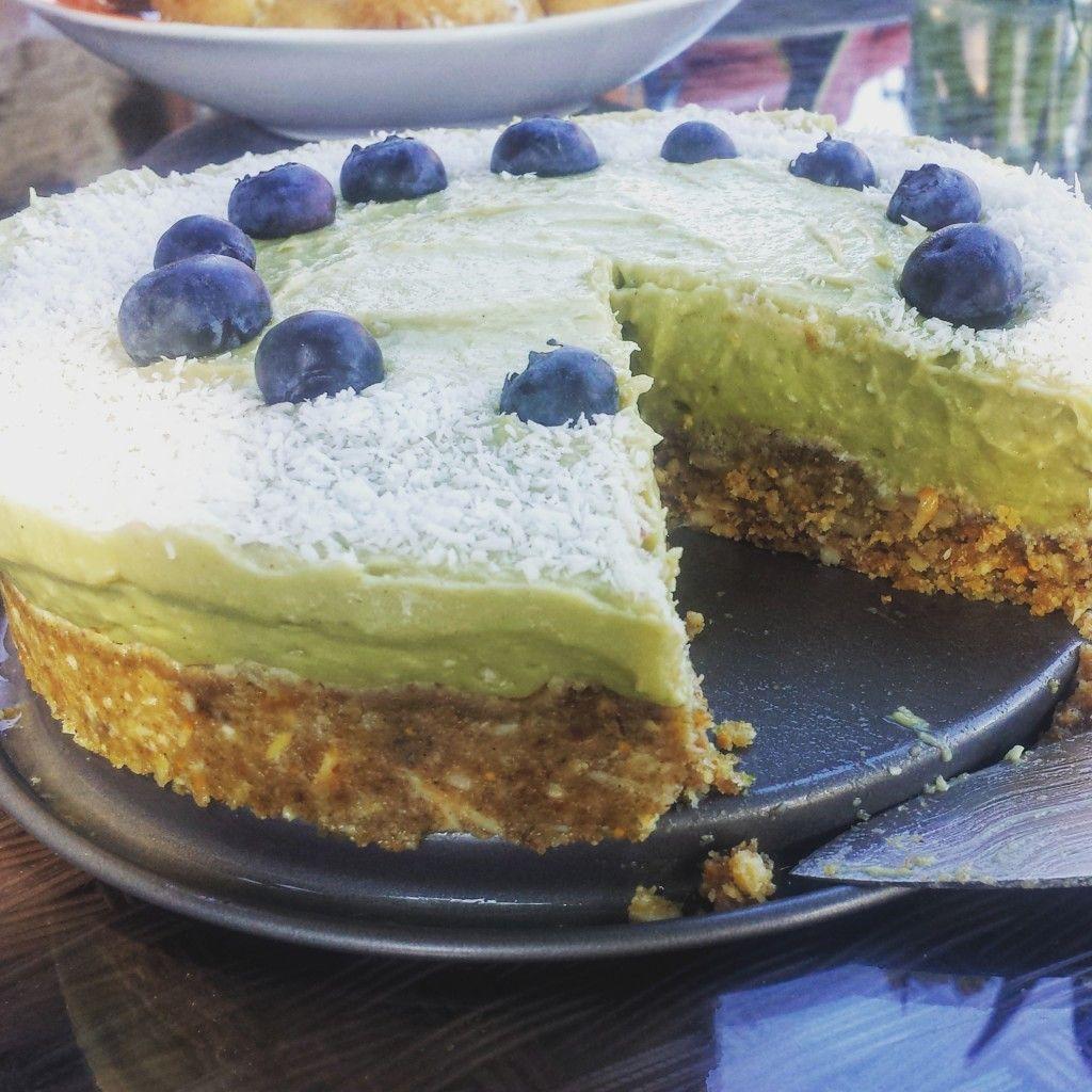 Raw Kuchen Ohne Backen Vegan Und Roh Avocado Limette Mit