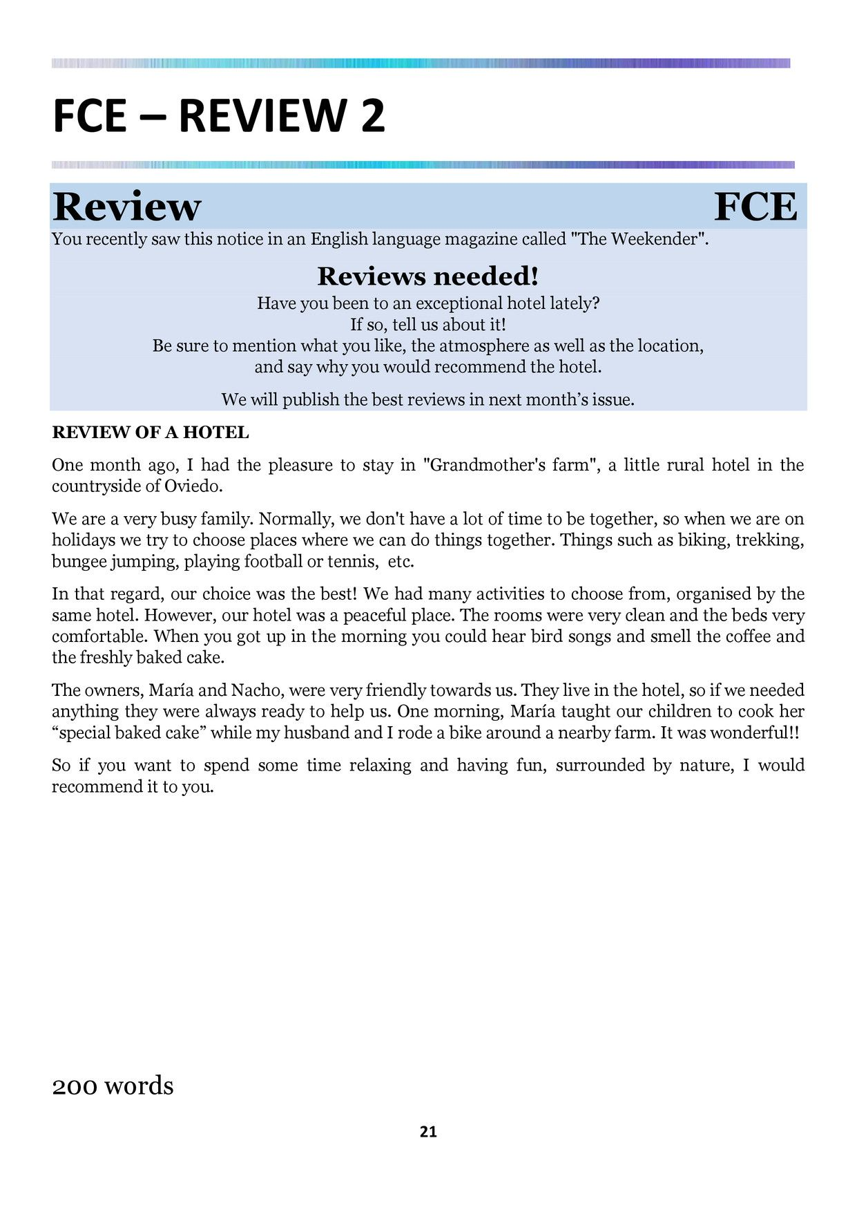 cae review