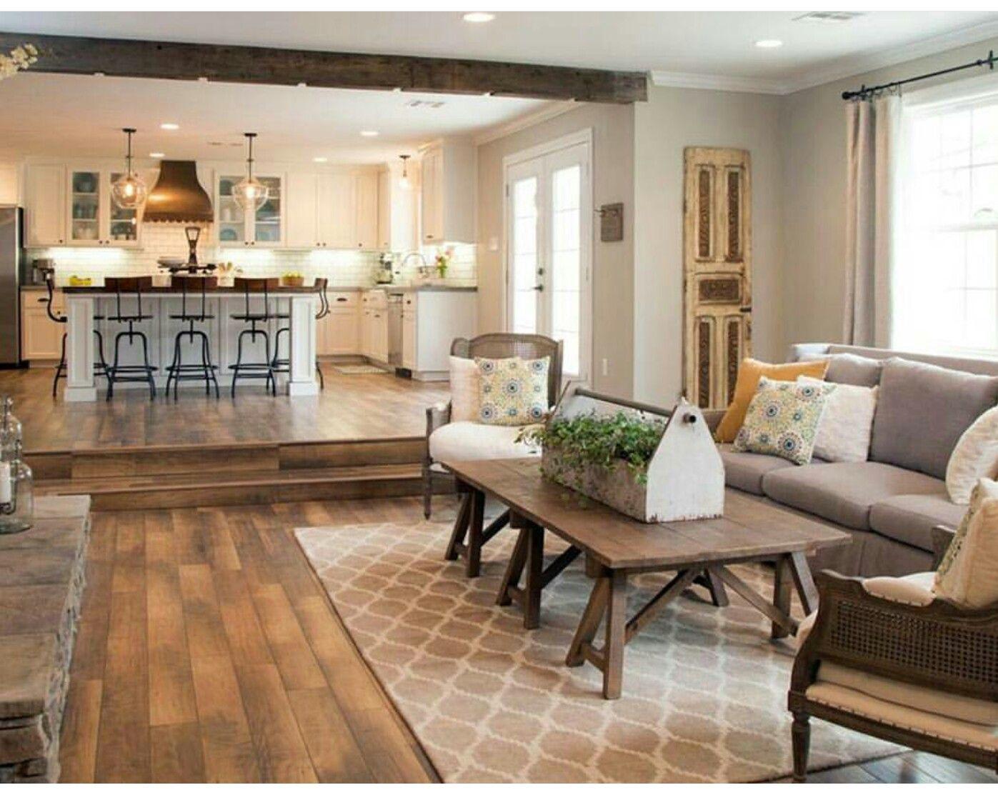 Sunken Room 2 3 Steps Fixer Upper Living Room Farm House Living Room Joanna Gaines Living Room