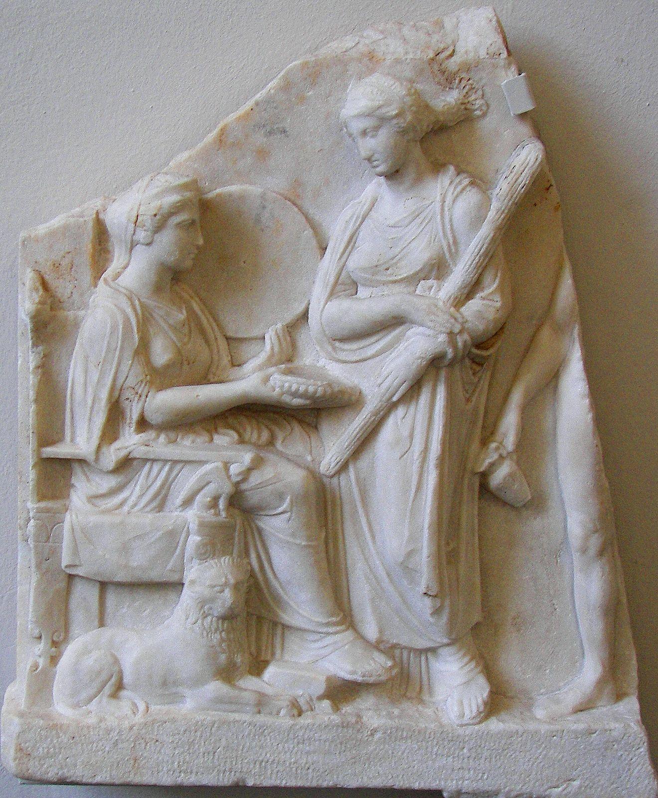 Pergamonmuseum Kybele On Throne Hekate Hekate Greek And Roman Mythology Hecate Goddess