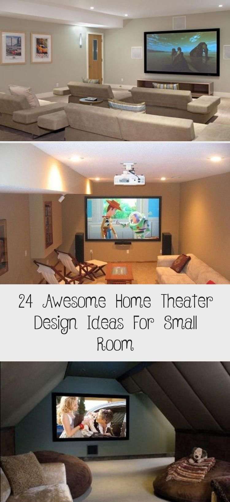 24 Awesome Home Theater Design Ideas For Small Room Design Awesome Home Theater Design Idea In 2020 Home Theater Design Small Home Theaters Home Theater Seating