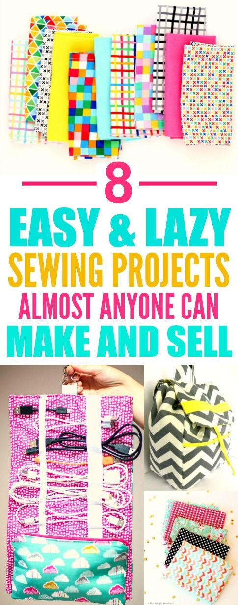8 Easy and Lazy Crafts You Can Make and Sell #sewingprojects