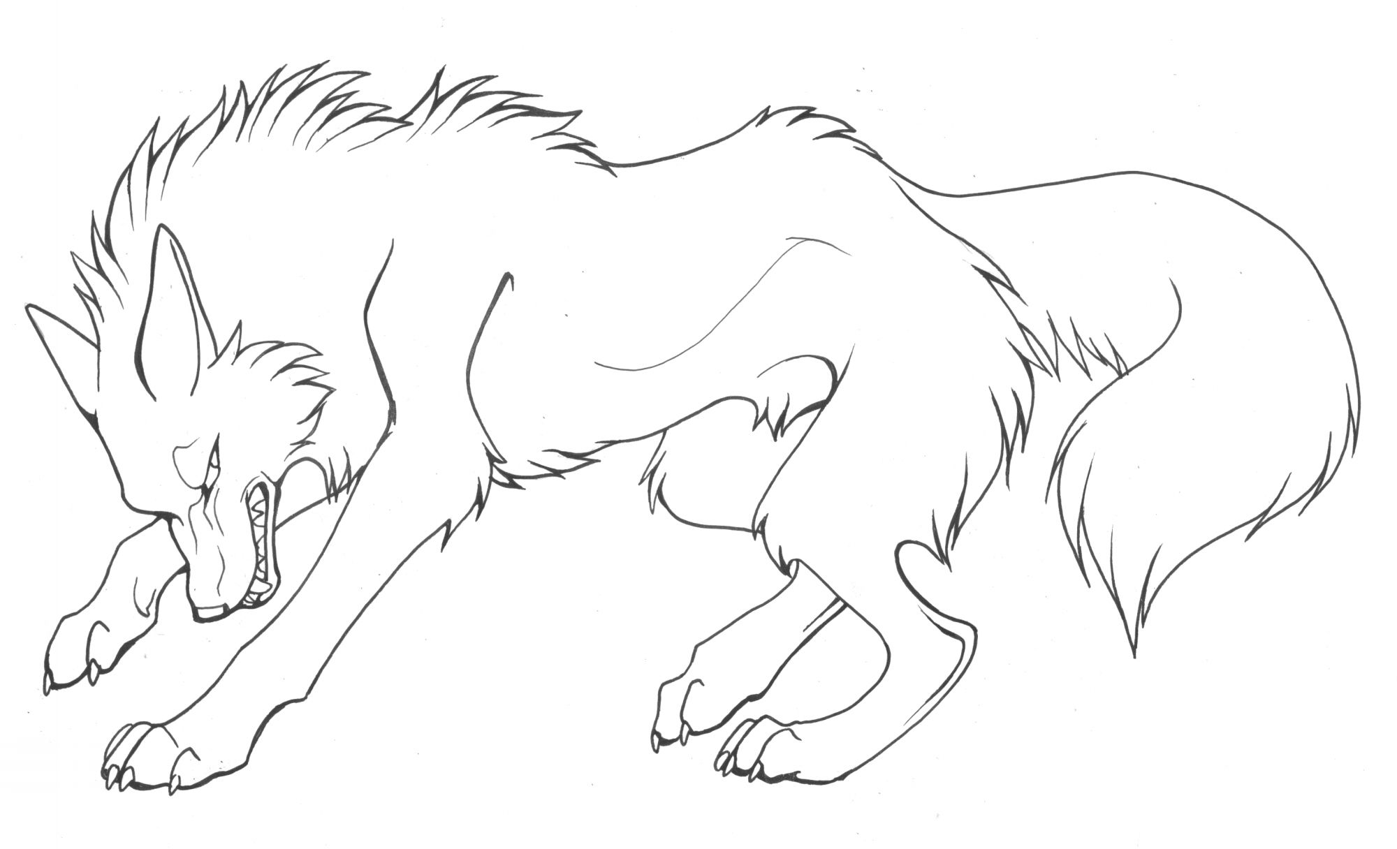 553376 Anime Wolves Coloring Pages Jpg 2000 1216 Animal