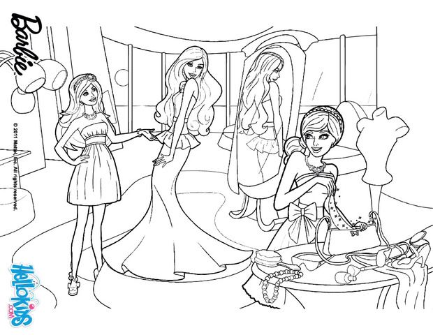 Image From Http Images Hellokids Com Uploads Tiny Galerie 20140310 Barbie In The Clothing Store Barbie Barbie Coloring Pages Coloring Pages Barbie Coloring
