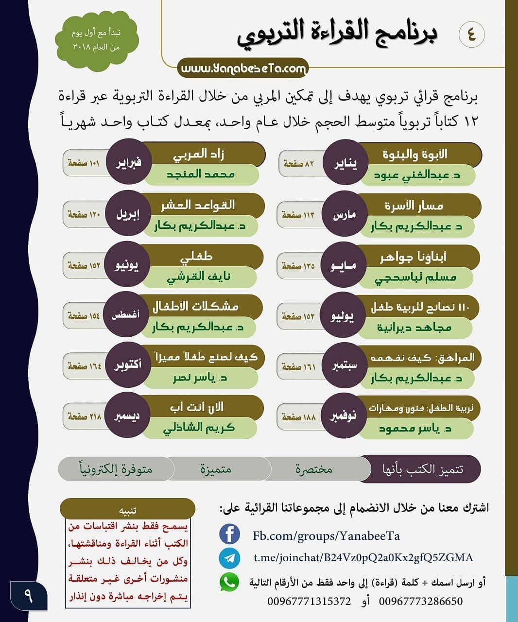برنامج القراءة التربوي فضلا شارك الصورة