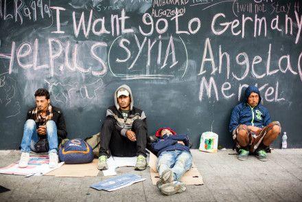Syrische Flüchtlinge in Budapest (©Foto: Istvan Csak / Shutterstock.com)