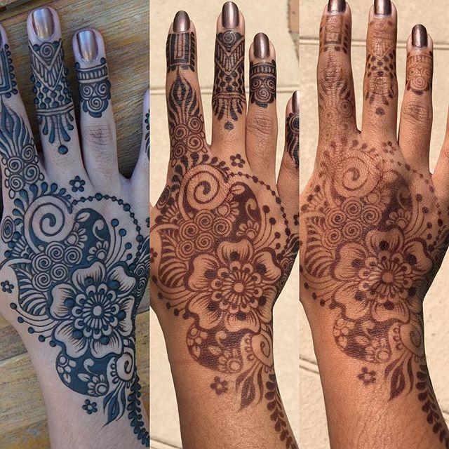 Mehndi Henna Mix : Jagua henna paste blend on mature stain and