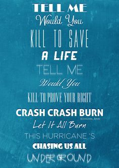 30 Seconds To Mars Hurricane 30 Seconds To Mars Favorite Lyrics Music Lyrics