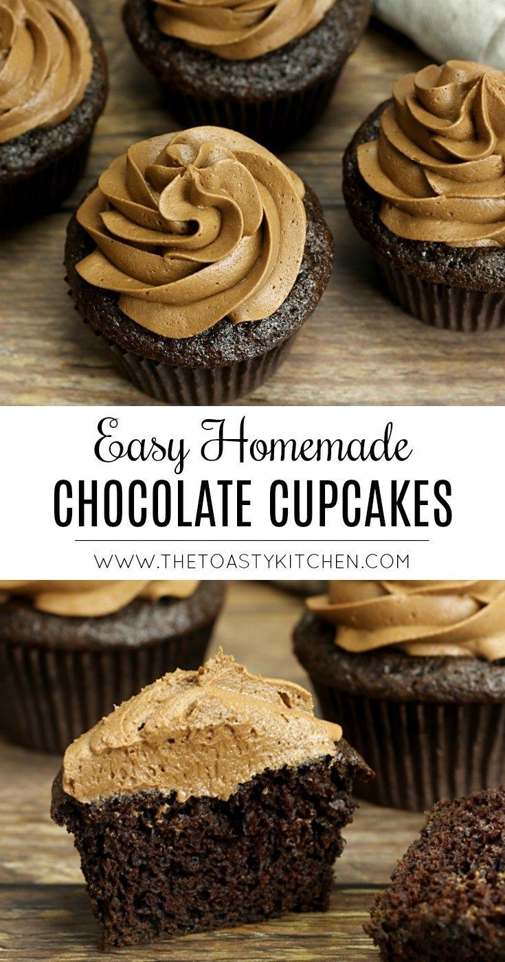 Homemade Chocolate Cupcakes - The Toasty Kitchen