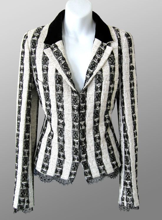 CHANEL Lace Trimmed Boucle Jacket Size FR 40 - 42 / US 4 - 6 ...