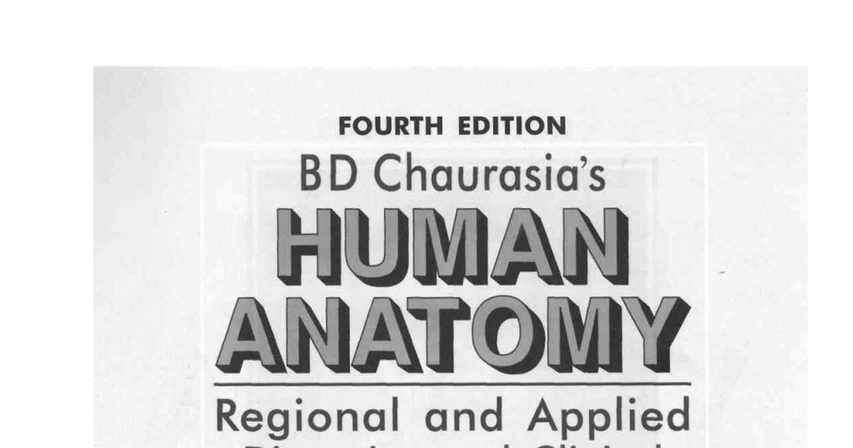 BD chaurasia Human Anatomy 4th edition. Volume 2 [eblog24.net ...