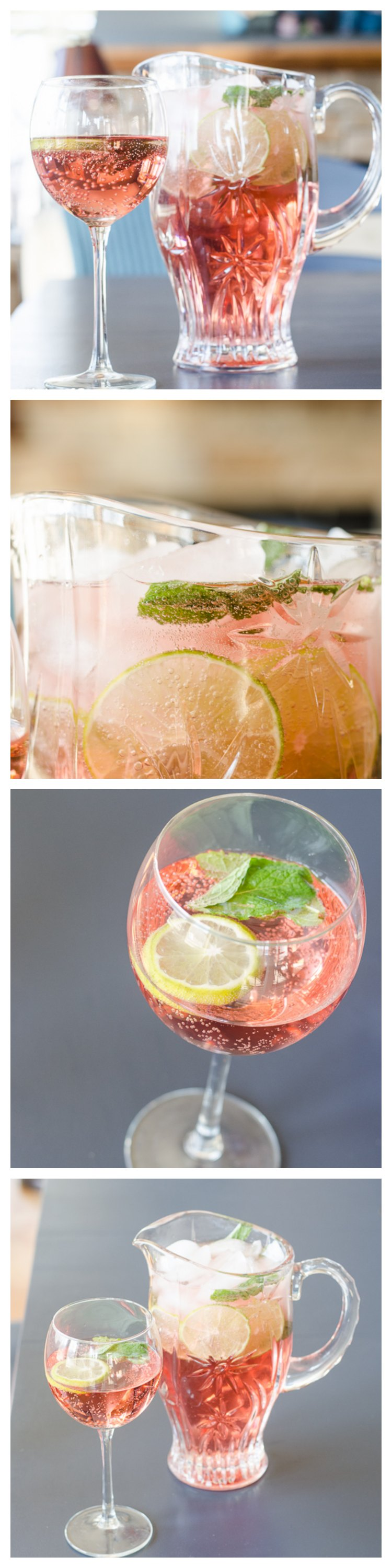 raspberry, lime, mint, wine spritzer recipe - easy, bubbly summertime treat