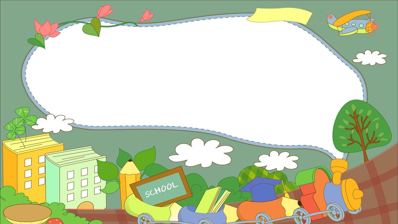 Cartoon Style Reading Theme P Powerpoint Design Templates