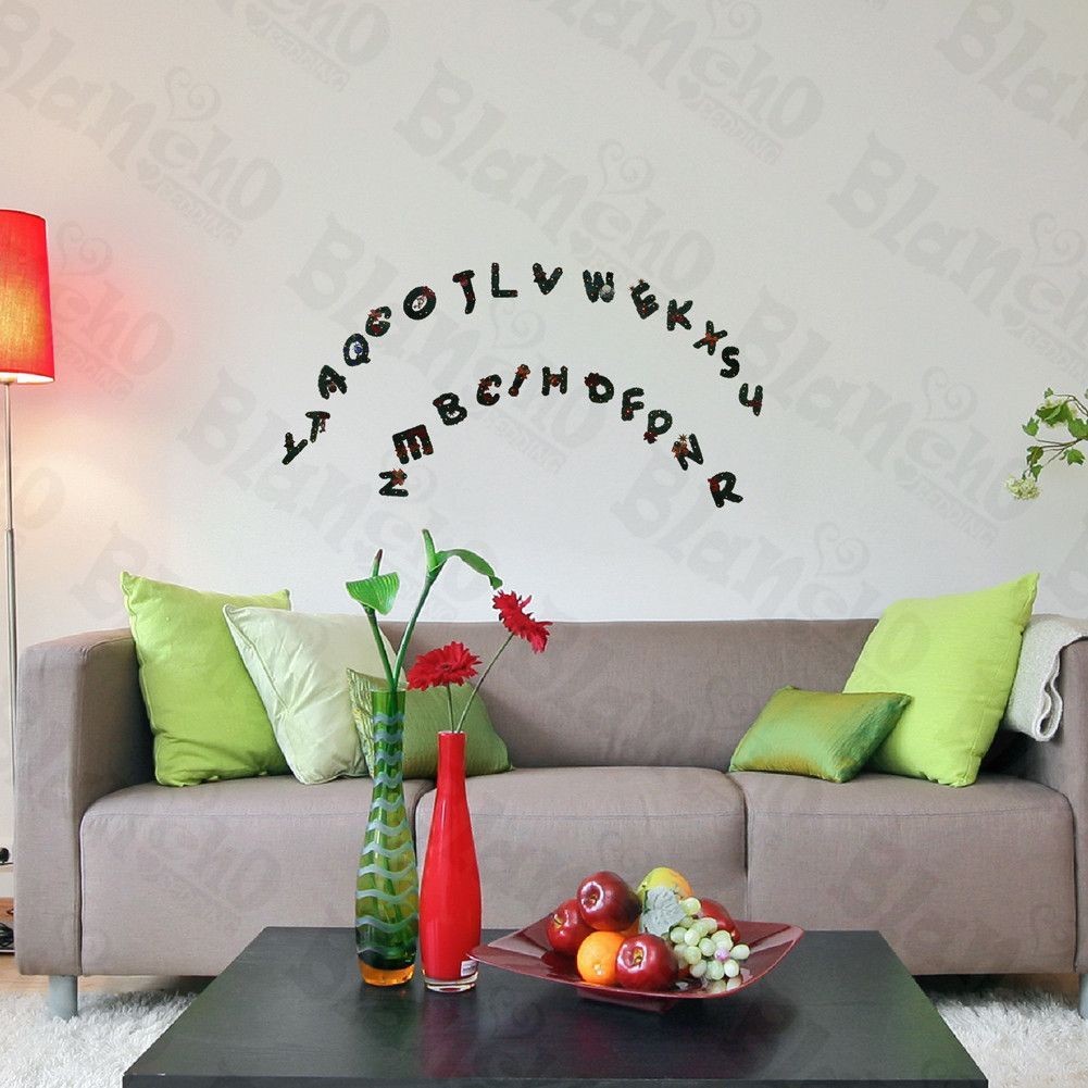 Christmas Alphabet   Hemu Wall Decals Stickers Appliques Home Decor 9.4 By  16.5 Inches