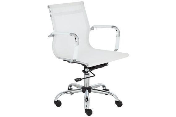 Maxmesh White Tilt Modern Adjustable Desk Chair $99.95