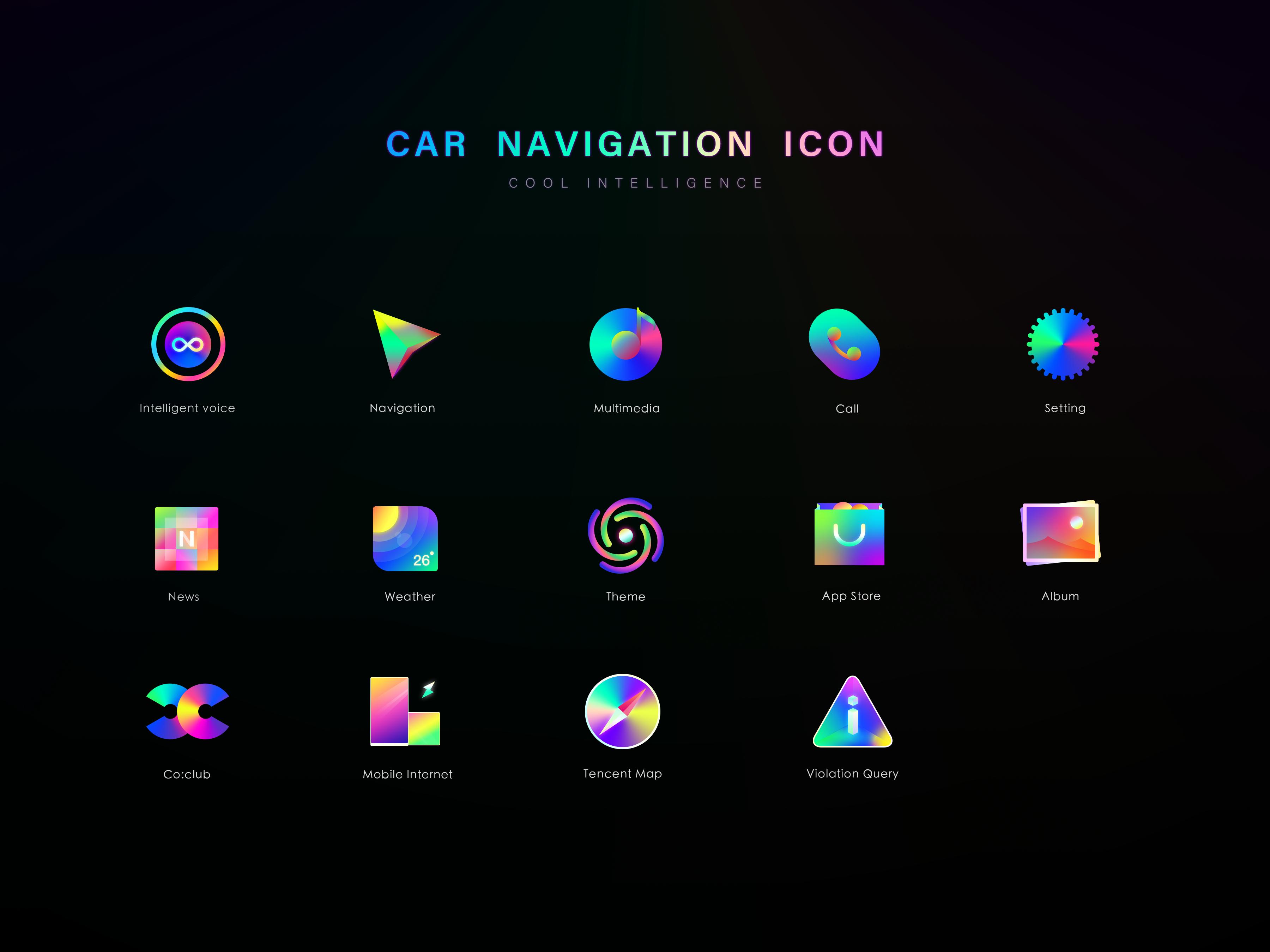 Car Navigation Icon Car Navigation Icon Set Design Icon