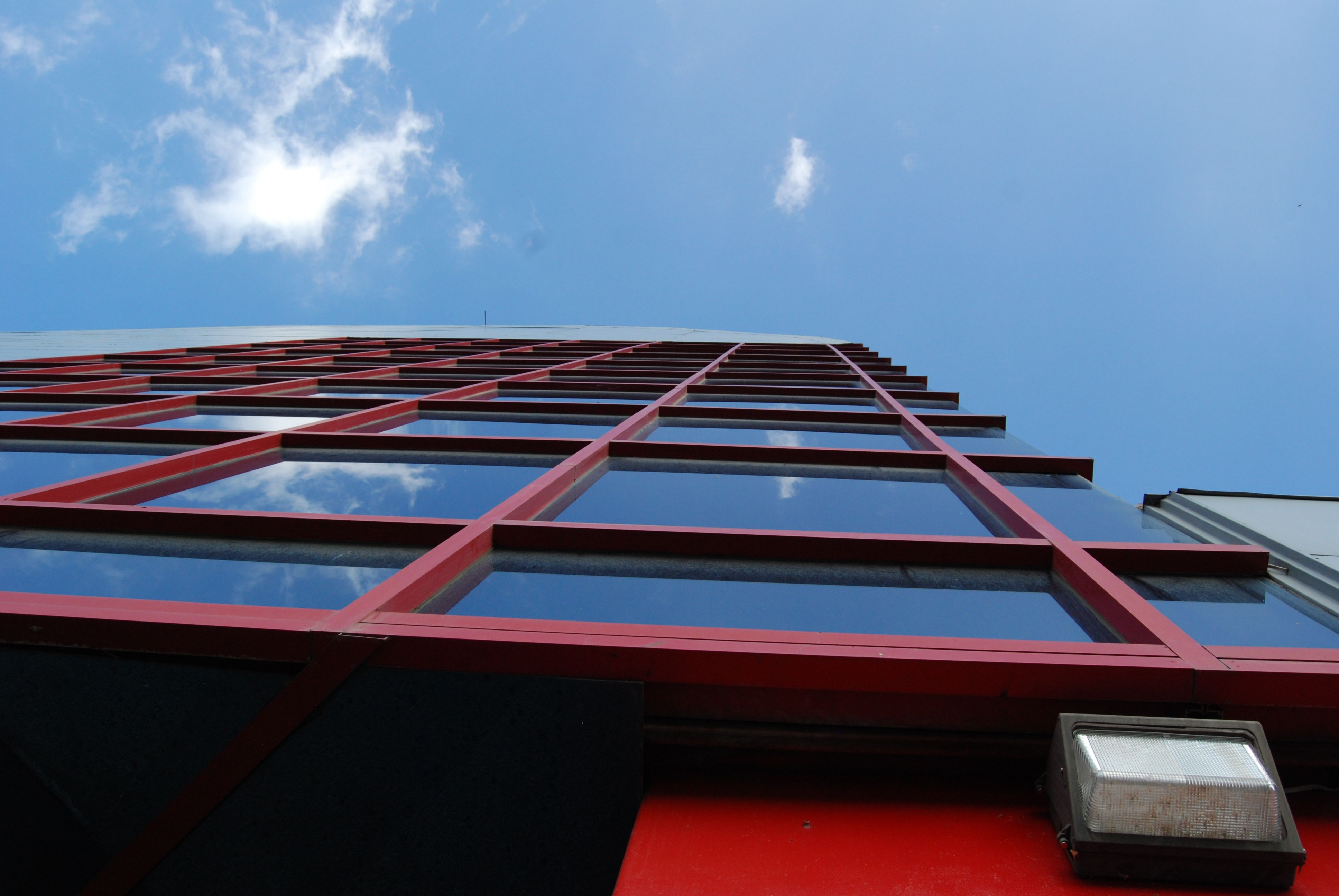 #building #red #nadir #sky #clouds