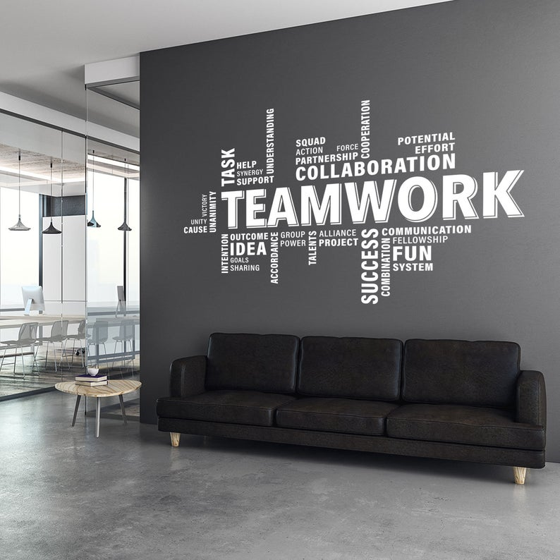 Teamwork Wall Decal Teamwork Decal Office Wall Art Office Decor Office Wall Decal Office Wall Decor Office Decals Motivational Art Office Wall Decals Office Wall Graphics Office Wall Design