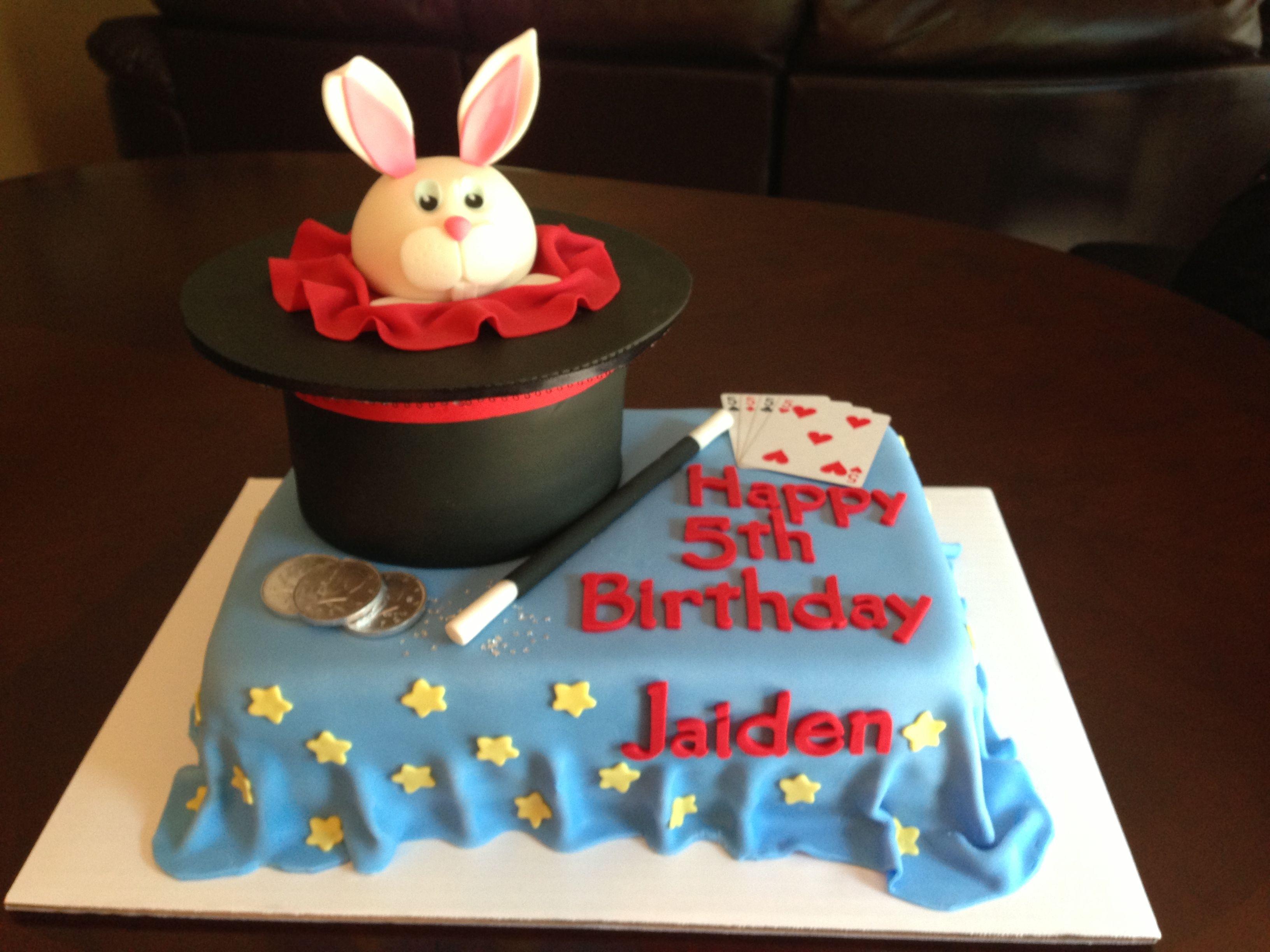 Awe Inspiring Magic Theme Birthday Cake Magic Birthday Magic Birthday Party Funny Birthday Cards Online Elaedamsfinfo