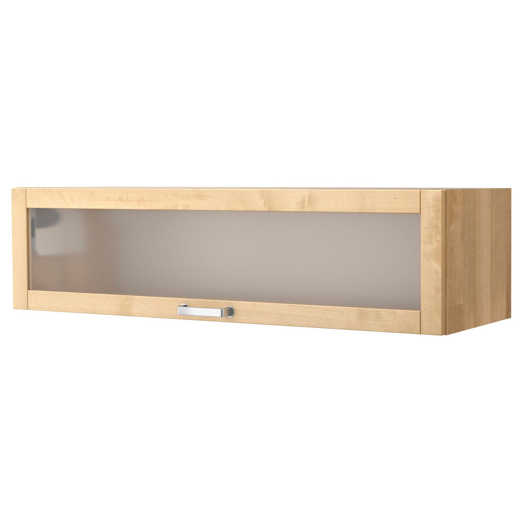 V Rde Glass Door Wall Cabinet Birch Ikea Home Bits  # Meuble Angle Varde Ikea