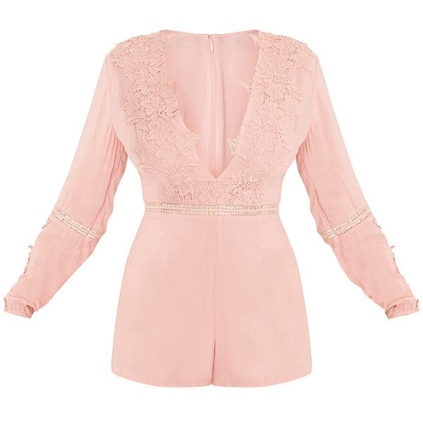 d470235ec2 Lauren Pink Cheesecloth Playsuit ( 34) ❤ liked on Polyvore featuring  jumpsuits