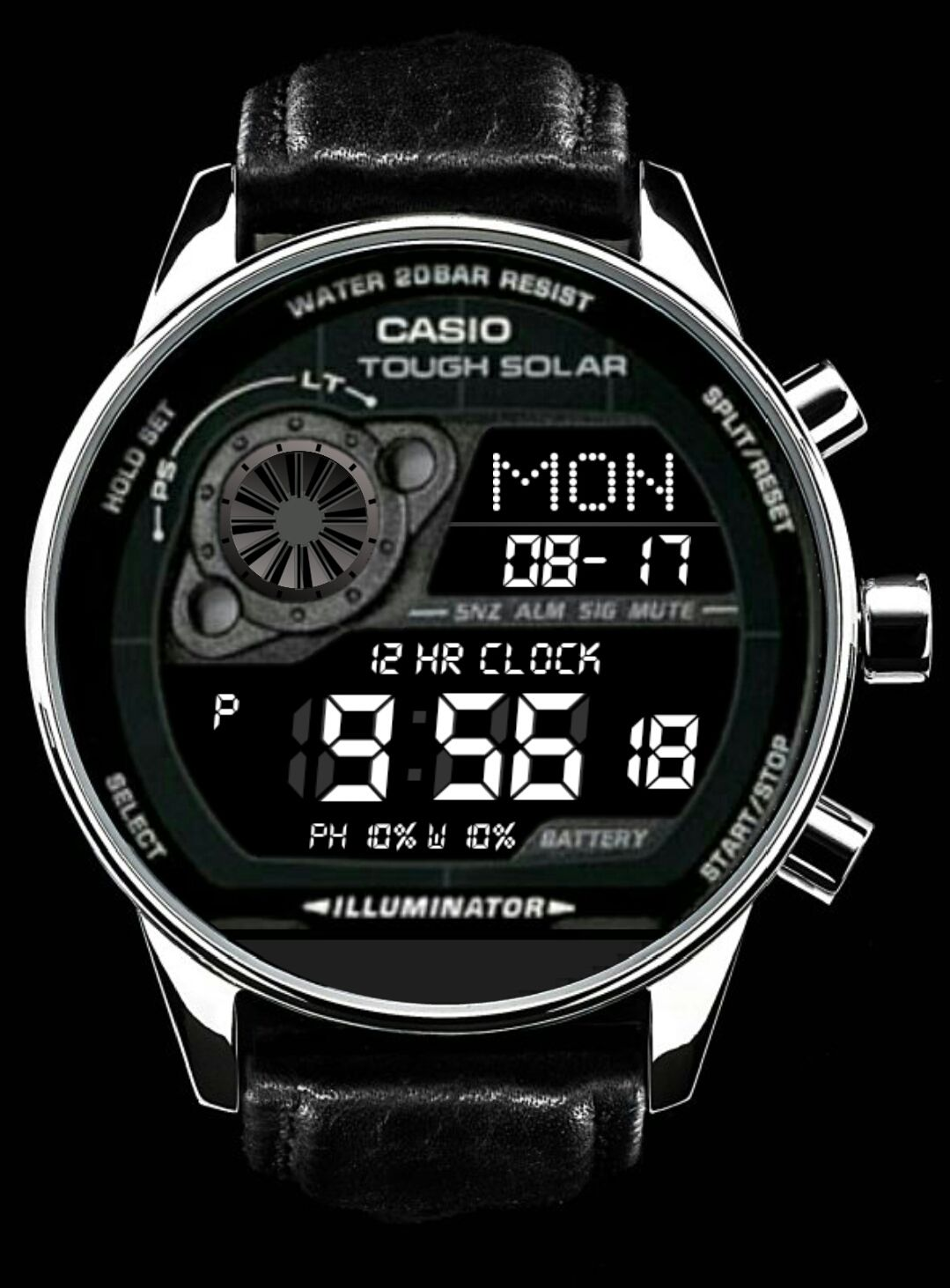 Gr8900a1ver2 watch face preview (With images) Casio