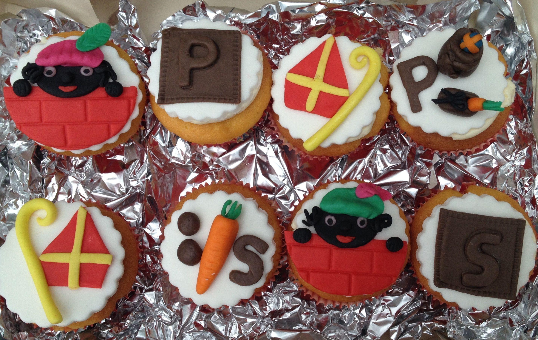 Sint en Piet / Sinterklaas cupcakes.