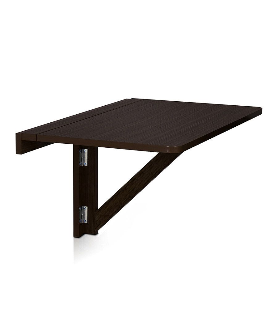 - Look At This Espresso Wall-Mounted Drop-Leaf Folding Table On